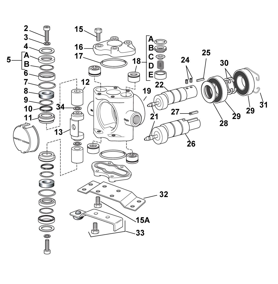 Hypro 5322c piston pump ceramic plungers sprayer depot parts list pooptronica